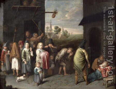 A Charivari by David The Younger Ryckaert - Reproduction Oil Painting