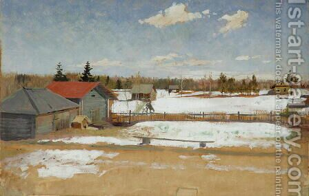 Tumenevs Estate, c.1890-95 by Andrei Petrovich Ryabushkin - Reproduction Oil Painting