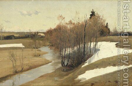 River Kordonka by Andrei Petrovich Ryabushkin - Reproduction Oil Painting