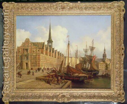 The Stock Exchange, Copenhagen by Jan Rutten - Reproduction Oil Painting