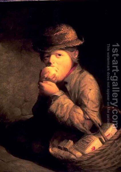A Match Seller by David Gilmour Blythe - Reproduction Oil Painting