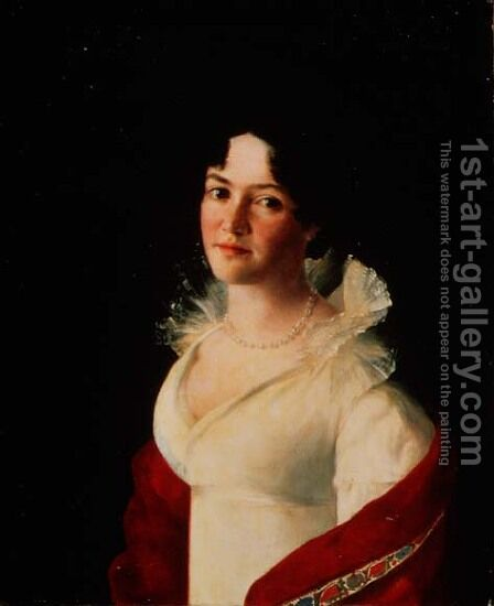 Portrait of Countess Natalia Pavlovna Zubova 1801-68 c.1820 by Anonymous Artist - Reproduction Oil Painting