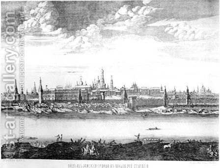Moscow, plate 19 from Views of Palaces, Churches and Buildings, 1886 by Anonymous Artist - Reproduction Oil Painting