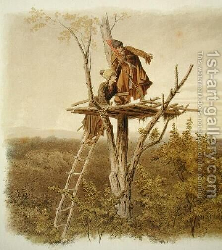 The Lookout by Anonymous Artist - Reproduction Oil Painting