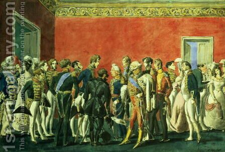 A Reception in the Embassy of Teheran, 1830s by Anonymous Artist - Reproduction Oil Painting