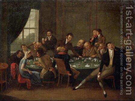 The Gambling House by Anonymous Artist - Reproduction Oil Painting