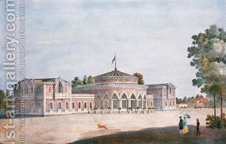Railway Station and French Restaurant in the Catherine Park, 1824 by Anonymous Artist - Reproduction Oil Painting
