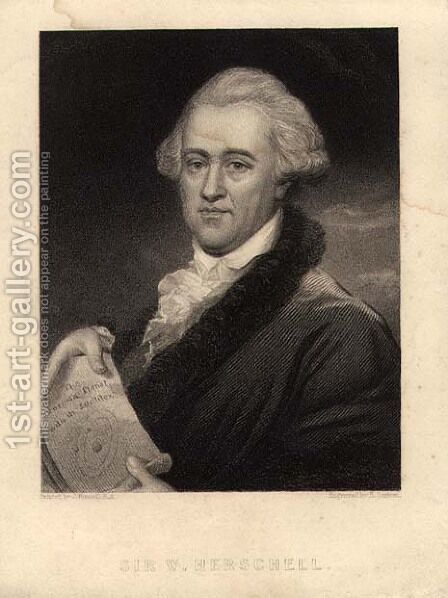 Portrait of Sir William Herschel 1738-1822, engraved by Edward Scriven 1775-1841 by (after) Russell, John - Reproduction Oil Painting
