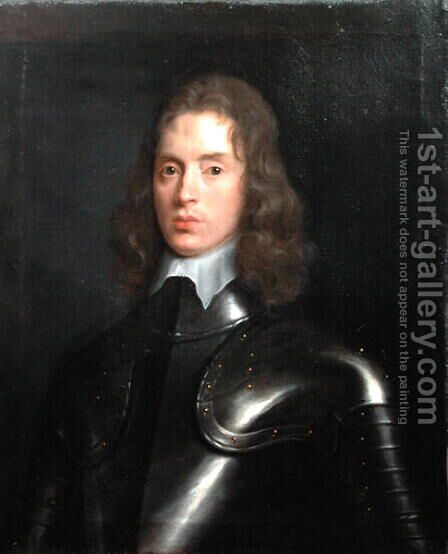 Portrait of Robert Stephens 1622-75 of Eastington, Gloucestershire, 1641 by (circle of) Russel, Theodore - Reproduction Oil Painting