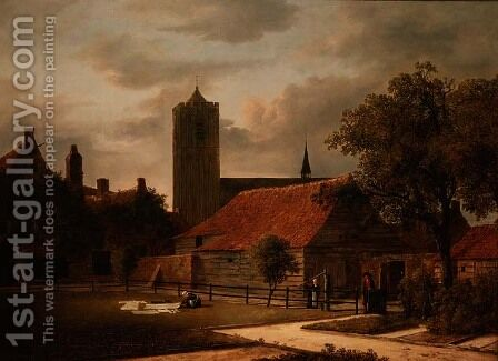 View of Egmond, Netherlands by Isaak van Ruisdael - Reproduction Oil Painting