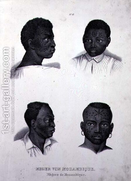 Negroes of Mozambique, c.1850 by (after) Rugendas, Johann Moritz - Reproduction Oil Painting