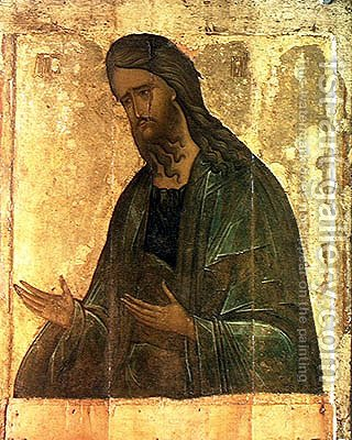 Icon of St. John the Baptist by Andrei Rublev - Reproduction Oil Painting