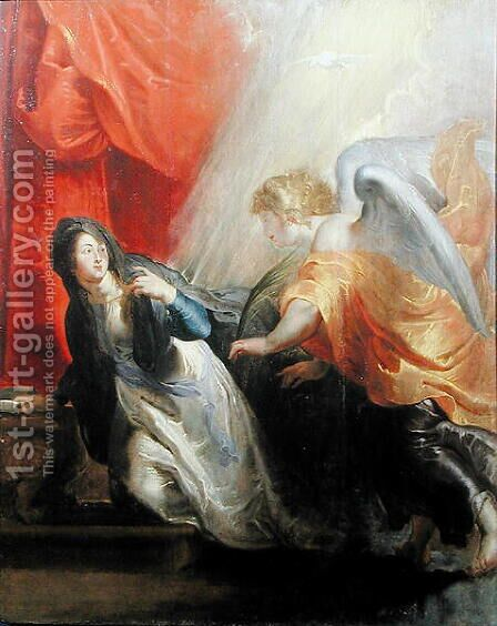 Annunciation of the Virgins Death c.1611 by (attr. to) Rubens, Peter Paul - Reproduction Oil Painting