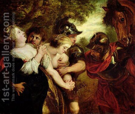 The Rape of the Sabine Women by (after) Rubens, Peter Paul - Reproduction Oil Painting