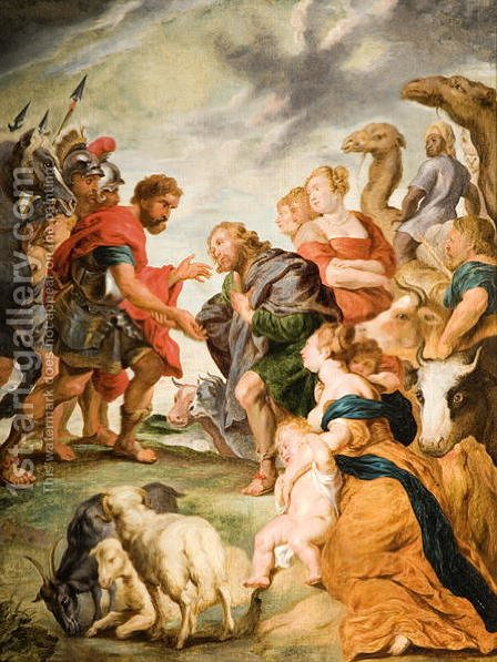 The Meeting of Esau and Jacob by (after) Rubens, Peter Paul - Reproduction Oil Painting