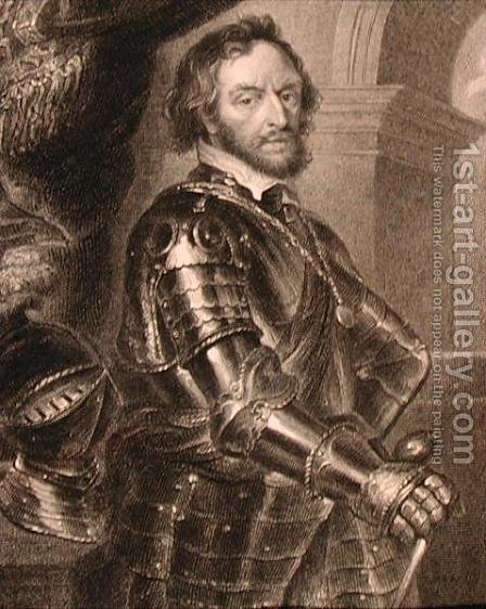 Portrait of Thomas Howard 1585-1646 2nd or 14th Earl of Arundel, from Lodges British Portraits, 1823 by (after) Rubens, Peter Paul - Reproduction Oil Painting