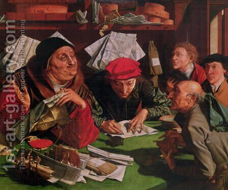 The Lawyers Office, c.1545 by Marinus van Roymerswaele - Reproduction Oil Painting
