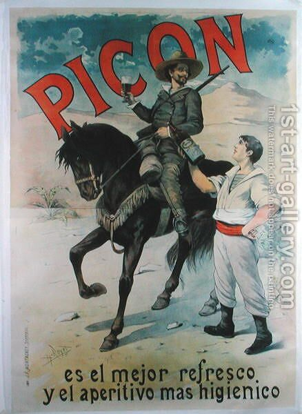 Poster advertising Picon, Spanish aperitif, 1892 by Henri Royer - Reproduction Oil Painting