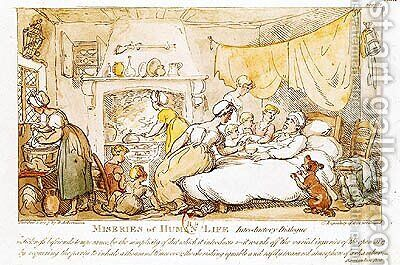 Miseries of Human Life Introductory Dialogue, published by R. Ackermann, 1807 by (after) Rowlandson, Thomas - Reproduction Oil Painting