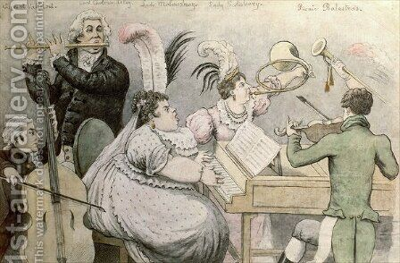 Musical Party by (after) Rowlandson, Thomas - Reproduction Oil Painting