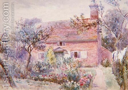 A Cottage Garden by Charles Rowbotham - Reproduction Oil Painting