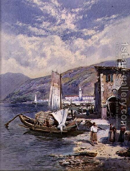 Lake Como by Charles Rowbotham - Reproduction Oil Painting