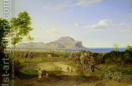 View over Palermo, 1828 by Carl Rottmann - Reproduction Oil Painting