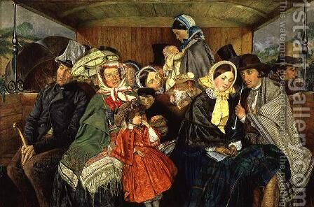 To Brighton and Back for Three and Sixpence, 1859 by Charles Rossiter - Reproduction Oil Painting