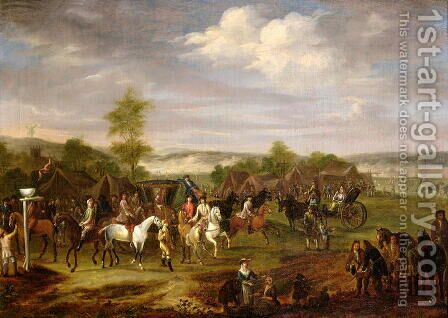 Meeting at Clifton and Rawcliffe Ings, York, September 1709 by James Ross - Reproduction Oil Painting
