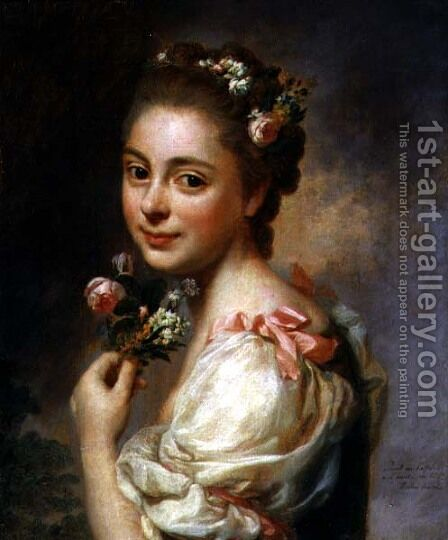 Portrait of the Artists Wife, Marie Suzanne, 1763 by Alexander Roslin - Reproduction Oil Painting