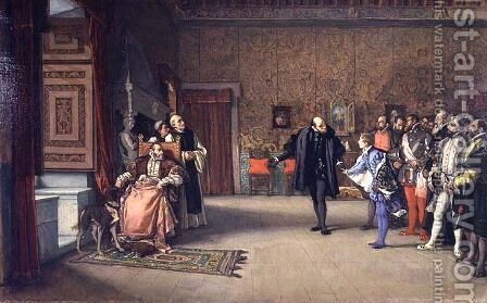 The Presentation of Don John of Austria to Charles V in c.1558, 1869 by Eduardo Rosales - Reproduction Oil Painting