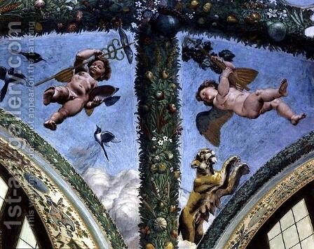 Putti from the Loggia of Cupid and Psyche, 1510-17 by Giulio Romano (Orbetto) - Reproduction Oil Painting