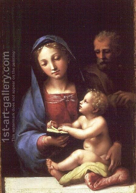 Holy Family by Giulio Romano (Orbetto) - Reproduction Oil Painting