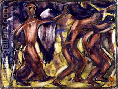 The Expulsion from Paradise, 1920 by Christian Rohlfs - Reproduction Oil Painting