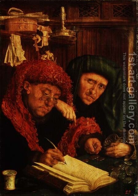 The Tax Collectors, 1550 by Marinus van Roejmerswaelen - Reproduction Oil Painting