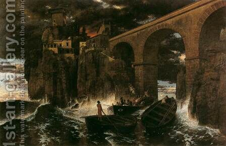 Attack by Pirates by Arnold Böcklin - Reproduction Oil Painting