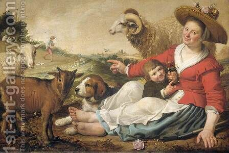 The Shepherdess 1628 by Jacob Gerritsz. Cuyp - Reproduction Oil Painting