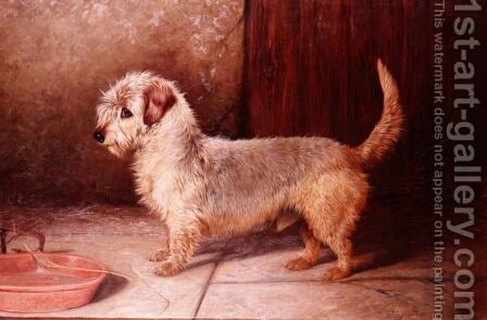 Callun, a Dandy Dinmont, 1895 by Colin Graeme Roe - Reproduction Oil Painting