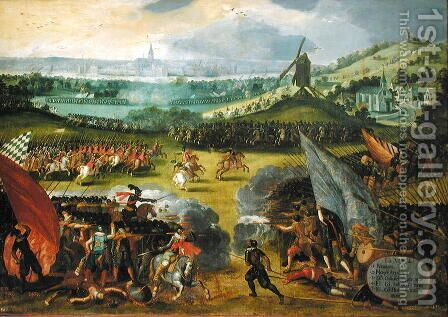 Battle of Nimegen by Holland Rodrigo of - Reproduction Oil Painting