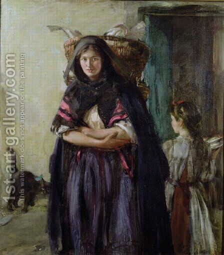 A Newhaven Fishwife by Alexander Ignatius Roche - Reproduction Oil Painting