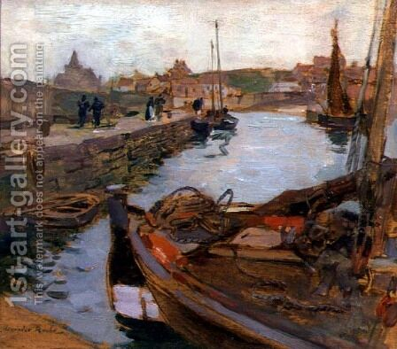 The Harbour, St. Monance by Alexander Ignatius Roche - Reproduction Oil Painting