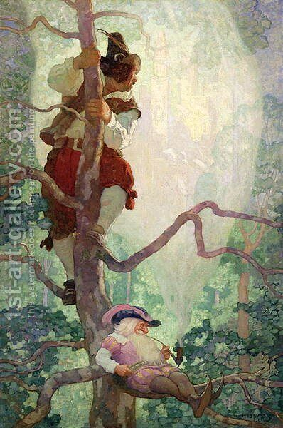 The Rites of Spring, illustration from A Childs Garden of Verses by Robert Louis Stevenson by Charles Robinson - Reproduction Oil Painting