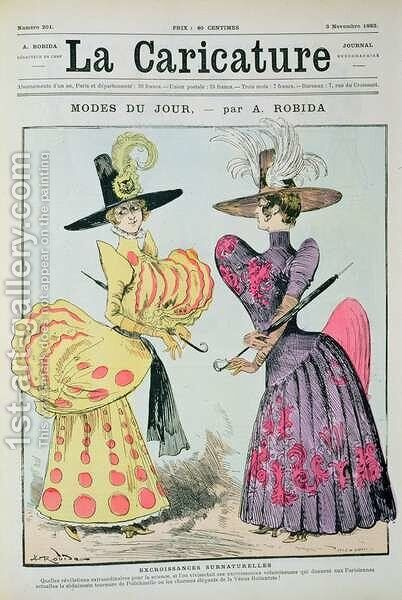 The Fashions of the Day, from La Caricature, 3rd November 1883 by Albert Robida - Reproduction Oil Painting