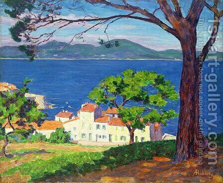 The Gulf of St. Tropez, 1935 by Andre Roberty - Reproduction Oil Painting
