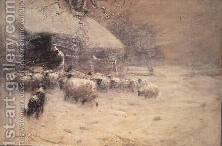 Sheep - Safe Haven by David Robertson - Reproduction Oil Painting