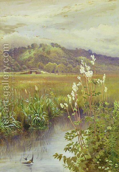 By the River by Charles Robertson - Reproduction Oil Painting