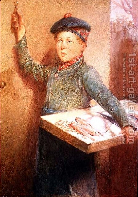 The Fishmongers Call by Henry Benjamin Roberts - Reproduction Oil Painting