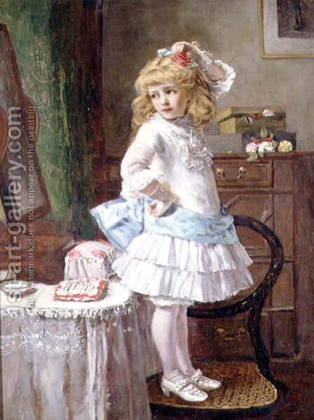 The New Party Frock by Edwin Thomas Roberts - Reproduction Oil Painting