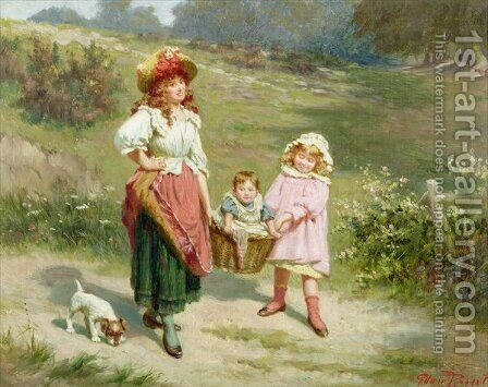 To Market, To Buy a Fat Pig by Edwin Thomas Roberts - Reproduction Oil Painting