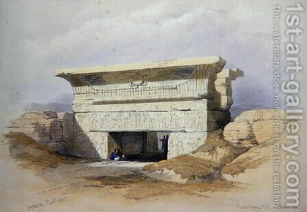 North Gate at Dendarah, from Egypt and Nubia, Vol.1 by David Roberts - Reproduction Oil Painting